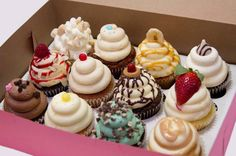 You have died and gone to Cupcake Heaven. This low-key Kosher bakery has roughly 25 to 30 cupcake flavors available at any given. Gourmet Cupcakes, Cupcake Flavors, Fun Cupcakes, Cupcake Cakes, Mocha Cupcakes, Strawberry Cupcakes, Easter Cupcakes, Velvet Cupcakes, Flower Cupcakes