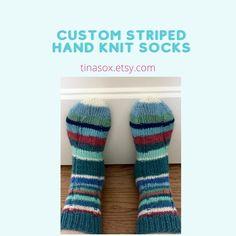 Neo Retro Hand Knitted Socks