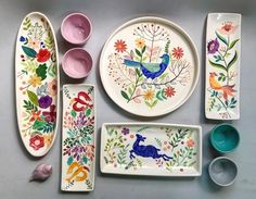 shohreh haghighi #ceramic#pottery#underglazepainting#iranianartist#shohrehhaghig  Home Sweet home