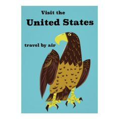 Visit the united States Travel poster - american travel gifts giftideas traveller america