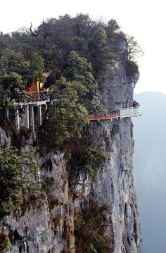 Cliffside Path, Tinamen Mountain, China    photo via besttravelphotos