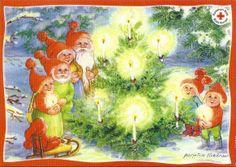 Metsänjuhla Christmas Cards, Xmas, Pixies, Cute Art, Elves, Troll, Mushrooms, Illustrators, Woodland