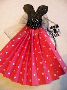 Seasons Of Joy:  tutorial cute paper dress   http://deckthehalls-christmas.blogspot.com/2012/04/vintage-paper-craft.html