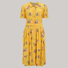 4fa84f86d32b9 The Daphne Dress in Mimosa by The Seamstress of Bloomsbury 1940s Fashion  Dresses, Feminine Style