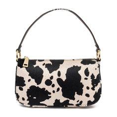 Angel Shoulder Bag in Cow Print Trendy Handbags, Purses And Handbags, Cheap Handbags, Luxury Handbags, Baguette, Tod Bag, Accesorios Casual, Cow Print, Cute Bags