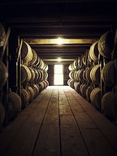 Barrels of aging Pappy Van Winkle bourbon. If you have never experienced the aroma of a bourbon aging warehouse, you are missing one of the greatest smells ever!