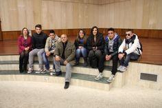 """Foto degli studenti dell'Ipsia """"Barlacchi"""" Crotone all'interno dell'Auditorium in Alkmeon International School of Dentistry"""