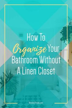 Small Bathroom Organization - Under Sink and Countertop Bathroom Organization - Bathroom Organization Ideas Organizing Clutter, Organization Hacks, Organization Ideas, Small Bathroom Organization, Bathroom Shelves, Plastic Organizer, Plastic Drawers, Declutter Your Home, Closet Bedroom