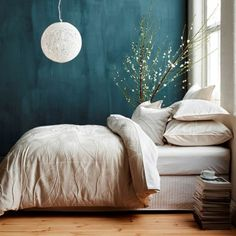 Farbtafel Wandfarbe - Time to get the color plate out: Change of wall colors is announced again - Decoration Solutions - Small Space Interior Design, Home Interior Design, Room Colors, Wall Colors, Home Bedroom, Bedroom Decor, Bedroom Ideas, Bedroom Wall, Espace Design