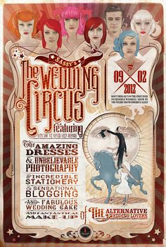 The Wedding Circus - Graphic designed by The Tiny Red Factory