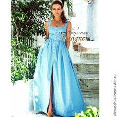 Купить Платье сарафан длинное в пол в интернет магазине на Ярмарке Мастеров #casualoutfits