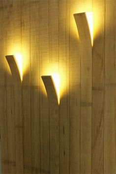 This modern and contemporary wood lamp is perfect and really amazing way to lighten up your house. This idea is unique and your guests will surely admire it. It needs no special and separate lights but you can mold the wooden planks on your wall into these amazing shadow lights.