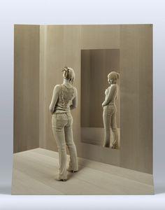 Esculturas hiper-realistas em madeira - PeterDemetz 12