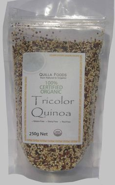 ORGANIC QUINOA TRI-COLOUR SEED 250g FREE FROM GLUTEN & ALLERGENS FREE SHIPPING $10.15 available on Ebay delivery Australia Wide.