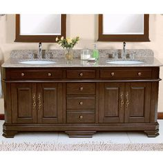 "Lanza Perkin 72"" Double Bathroom Vanity Set & Reviews | Wayfair"