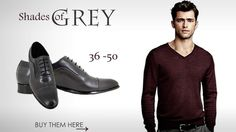 50 Shades of Grey #inspired. Men's fashion #grey #dressed #dress #shoes #in #small #shoe #sizes 3-6 (UK) or 36-39 https://stravers.shoes