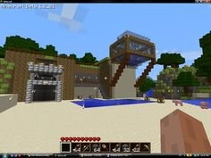Minecraft+House | Minecraft_House_painterfly Minecraft Cave House, Minecraft House Designs, Cool Minecraft Houses, How To Play Minecraft, Minecraft Stuff, Minecraft Ideas, Minecraft Buildings, Cool Minecraft Creations, Minecraft Images