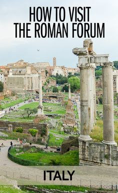 Everything you need to know about buying Roman Forum tickets and about your visit to the Roman Forum and Palatine Hill in Rome. Italy Travel Tips, Rome Travel, Europe Travel Guide, Travel Guides, European Vacation, Italy Vacation, European Travel, Italy Trip, Cool Places To Visit