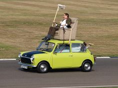 Rowan Atkinson as Mr. Bean at the @Goodwood Revival. 19th September 2009.