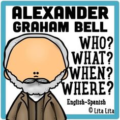 FREE Graham Bell Fold&Learn...FREE 14 pages Social Studies - History, World History, Foreign Language, Spanish  1st, 2nd, 3rd Worksheets, Printables, Graphic Organizers It includes a foldable with the questions: Who? Where? When? What? After completing the foldable your students can complete a writing prompt as a biography. The foldable and the writing prompts have many different options that will help you to adapt the activity to each student.