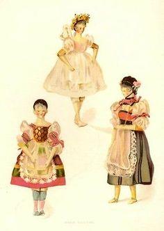 Queen Victoria's Dolls - by F. Low, Chromolithograph -1894- MARI TAGLIONI