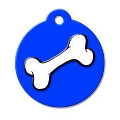 Bone QR Code Pet ID Tag by BarkCode - Blue