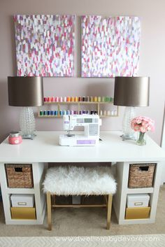 What a beautiful sewing station!