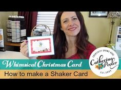 ▶ ‪How to make a Shaker Card - Tutorial with Catherine Pooler‬‏ - YouTube
