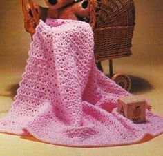 Free Crochet Patterns Pink baby blanket