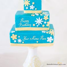 write name on Cool Happy Birthday Cake picture