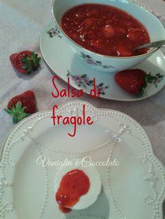 vaniglia e cioccolato: Salsa di fragole