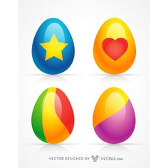 Vector Free Download, Free Vector Graphics, Coloring Easter Eggs, Egg Free, Happy Easter, Colorful, Image, Happy Easter Day