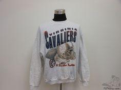 Vtg 90s Riddell Virginia Cavaliers Crewneck Sweatshirt sz 2XL 2X Large NCAA #Riddell #VirginiaCavaliers #tcpkickz