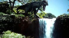 Indominus Rex Waterfall Jurassic World  jpnostalgia