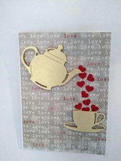 Valentine's Handmade Card. Romantic Love Card with
