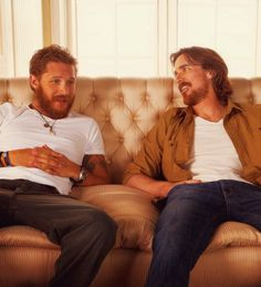 Tom Hardy and Christian Bale on a couch. Yes please.