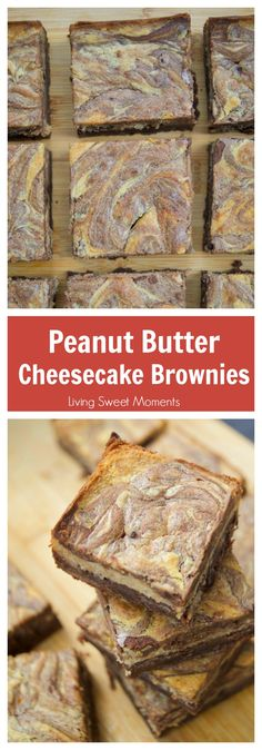 This soft and fudgy Peanut Butter Cheesecake Brownies recipe is super easy to make and perfect for dessert or snack. Enjoy 3 layers of chocolate goodness. More brownie recipes at livingsweetmoments.com via @Livingsmoments #ad #AnniesSpring