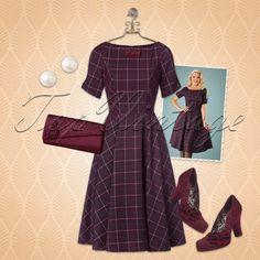 Graceful, feminine, elegant... This lovely look is a real vintage fairy tale!