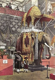 z- Elephant w Howdah (Crystal Palace Exhibition, GB) Architecture Courtyard, Fancy Chair, Palace London, London Landmarks, Age Of Empires, Asian History, Le Far West, Old London, Crystal Palace