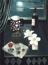 British Artist Mary Fedden - Two Lilies 2006 Season Of The Witch, Naive Art, Doodle Art, Cat Art, Painting & Drawing, Contemporary Art, Modern Art, Illustration Art, Paintings