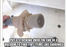 Why did I never think of this! So much simpler than sifting through dust and dirt! -J