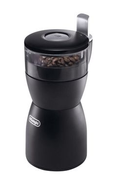 Coffee KG40 Grinder by DeLonghi. Push to grind system, coffee grinder with stainless steel blades, removable transparent container, easy to use coffee grinder, and rubber feet for the unit to stay in place. http://www.zocko.com/z/JIBAT