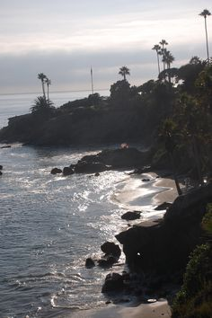 Morning in Laguna Beach, California....I have a pic almost exactly like this. Good memories from my first time there!