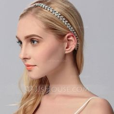[US$ 11.99] Ladies Beautiful Rhinestone/Alloy Headbands With Rhinestone (042115345)