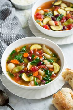 Soup Slow Cooker or Stovetop Method Cooking Classy, soup, Best Minestrone Soup Recipe Serious Eats. Healthy Crockpot Recipes, Slow Cooker Recipes, Soup Recipes, Cooking Recipes, Vegan Recipes, Healthy Cooking, Healthy Nutrition, Drink Recipes, Healthy Food