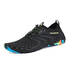 51d056ee0 MOERDENG Men Women Water Shoes Quick Dry Barefoot Aqua Socks Swim Shoes for Pool  Beach Walking Running