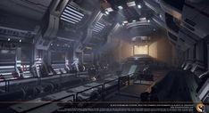 Sci fi Engine Room, Albertus Januardy on ArtStation at https://www.artstation.com/artwork/Y952Y