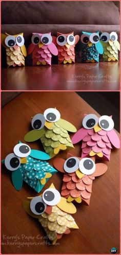 DIY TP Roll Owl Tutorial - Paper Roll Christmas Craft Ideas & Proyectos - DIY TP Roll Owl Tutorial – Paper Roll Christmas Craft Ideas & Proyectos Imágenes efectivas que le - Toilet Paper Roll Crafts, Paper Crafts For Kids, Crafts For Teens, Diy And Crafts, Diy Paper Crafts, Decor Crafts, Craft With Paper, Paper Crafting, Easy Crafts