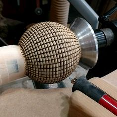Magic 8 Ball In this video I turned a sphere case for a magic 8 ball. I decorated it with basket illusion. Basket illusion is a technique of burning and colo. Wood Lathe For Sale, Cnc Wood Lathe, Wood Lathe Chuck, Wood Turning Lathe, Wood Router, Diy Lathe, Woodworking Box, Easy Woodworking Projects, Lathe Projects