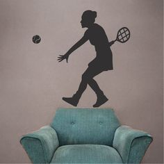 Tennis wall decal sport designs for walls trendy wall design Sports Wall Decals, Vinyl Wall Decals, Icon Design, Logo Design, Sports Illustrated Covers, Wall Design, Art Photography, Tennis, Wall Decor